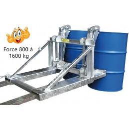 Elévateur pour fûts de 800 à 1600 kg