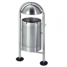 Corbeille inox pour l'extérieur capacité 30 litres