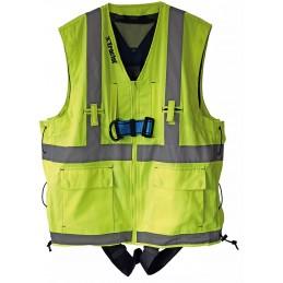 Harnais de sécurité HT22 avec veste réfléchissante jaune