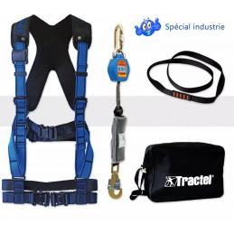 Kit harnais de sécurité pour maintenance industrielle Pack premium