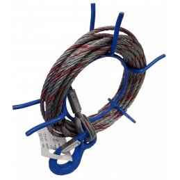 Câble antigiratoire avec crochet pour Tirfor TU 8