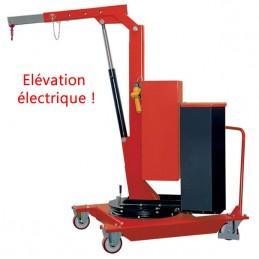 Grue d'atelier porte-à-faux rotative à élévation électrique 500 kg
