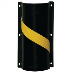 Protège-conduit exposés aux chocs noir et jaune.