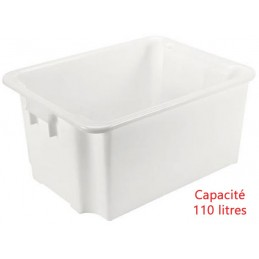 Bac euro gerbable 110 litres alimentaire