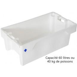 Bac à poisson emboîtable 60 litres ou 40 kg de poissons blanc.