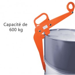 Pince de levage 600 kg pour fûts de 220 litres