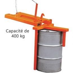 Manipulateur de fût pivotant horizontal et vertical 400 kg