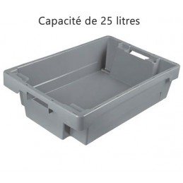 Bac ROTA 25 litres 600 x 400 fond et côtés pleins