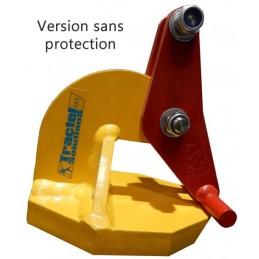 Pinces de levage pour plaques de 500 à 10 000 kg sans protection.