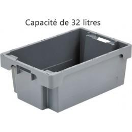 Bac ROTA 32 litres 600 x 400 fond et côtés pleins