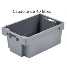 Bac ROTA 40 litres 600 x 400 fond et côtés pleins