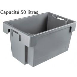 Bac ROTA 50 litres 600 x 400 fond et côtés pleins