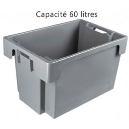 Bac ROTA 60 litres 600 x 400 fond et côtés pleins