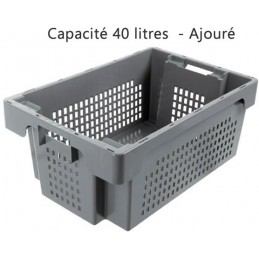 Bac ROTA 40 litres 600 x 400 côtés ajourés