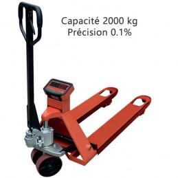 Transpalette peseur 2000 kg couleur orange