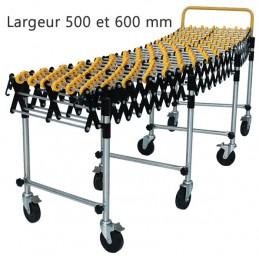 Convoyeur galets plastique longueur 4734 mm