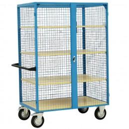 Armoire grillagée capacité 300 kg avec 3 étagères