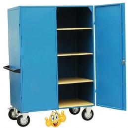 Armoire métal capacité 300 kg avec 3 étagères.