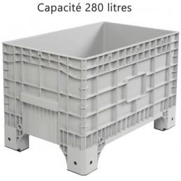 Caisse palette 280 litres sur pieds