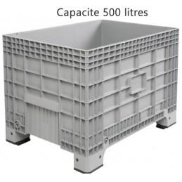Caisse palette 500 litres sur pieds