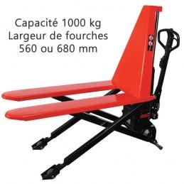 Transpalette haute levée électrique fourches largeur 560 ou 680 mm