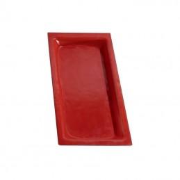 Bac GN1/3 en verre rouge