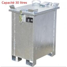 Conteneur de stockage 30 litres pour batteries au lithium-ion