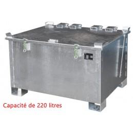 Conteneur de stockage 220 litres pour batteries au lithium-ion