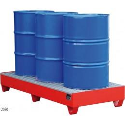 Bac de rétention 262 litres 1800 x 800 mm rouge