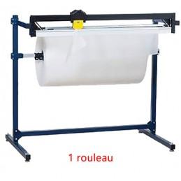 Dérouleur coupeur 1 rouleau pour papier et film à bulle