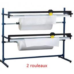 Dérouleur coupeur 2 rouleaux pour papier et film à bulle