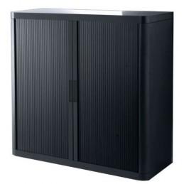 Armoire de bureau à rideau coloris noir