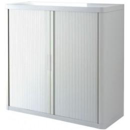 Armoire de bureau à rideau blanche