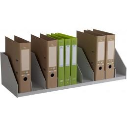 Trieur à cases fixes pour le bureau gris..
