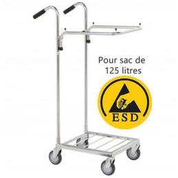 Chariot porte sac ESD ergonomique