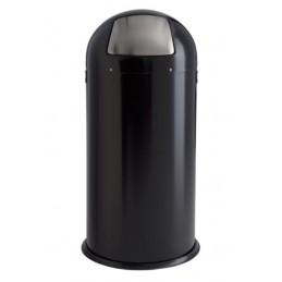 Poubelle 52 litres avec trappe inox poudré epoxy