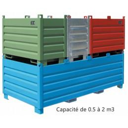 Caisse palette métallique pour tri sélectif et transport