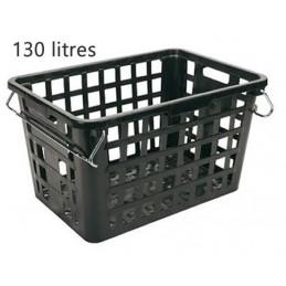 Panier pour laverie 130 litres avec anses acier