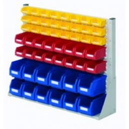 Rack modulaire hauteur 760 mm avec 52 bacs à bec