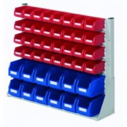 Rack modulaire hauteur 760 mm avec 44 bacs à bec