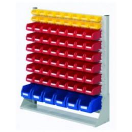 Rack modulaire hauteur 1100 mm avec 70 bacs à bec