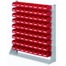 Rack modulaire hauteur 1100 mm avec 72 bacs à bec