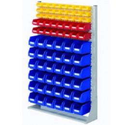 Rack modulaire hauteur 1450 mm avec 76 bacs à bec