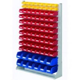 Rack modulaire hauteur 1450 mm avec 92 bacs à bec