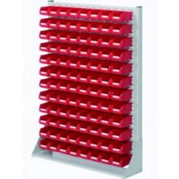 Rack modulaire hauteur 1450 mm avec 96 bacs à bec