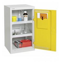 Armoire de sécurité 500 x 500 x 900 mm porte jaune.