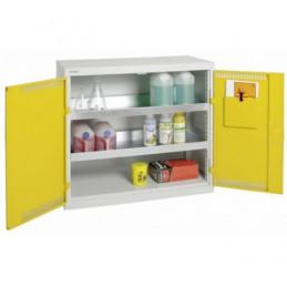 Armoire de sécurité 1000 x 500 x 900 mm portes jaune