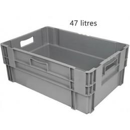 Bac emboitable 47 litres gerbable fond et côtés pleins