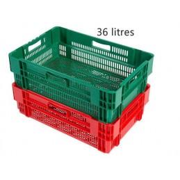 Bac emboitable 36 litres couleur gerbable fond et côtés ajourés