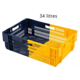 Bac euronorm empilable 34 litres hauteur 187 mm